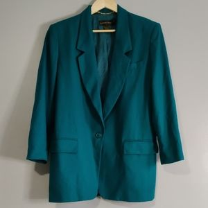 100% Pure New Wool Vibrant Green Blazer